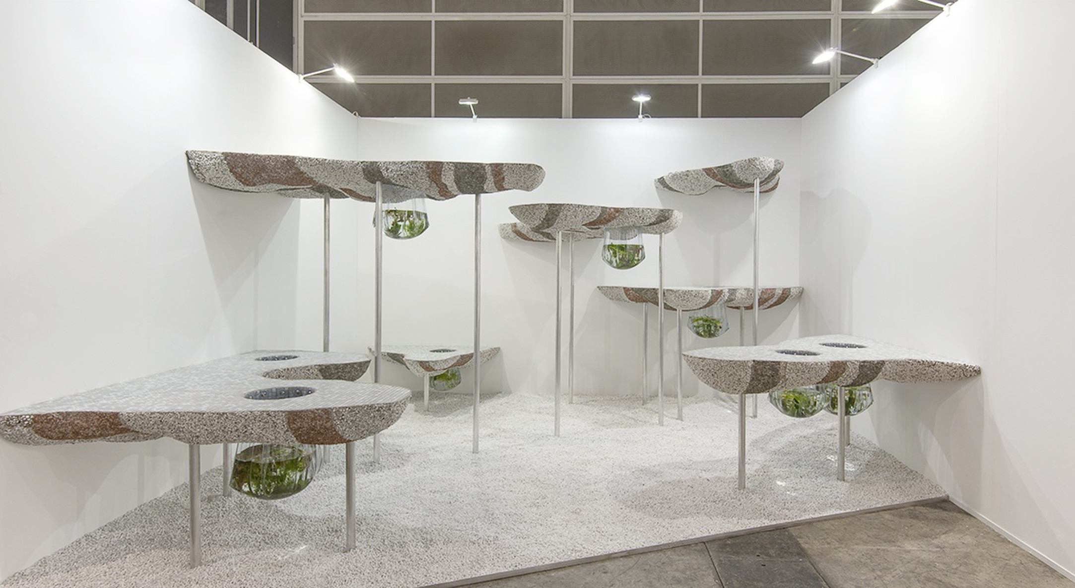 Installation view of Rachael Champion, Plough Layer, Source Rupture at Hales Gallery booth at Art Basel Hong Kong 2015