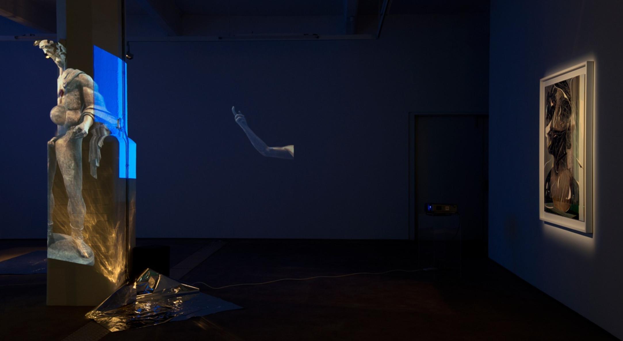 Installation view of Sebastiaan Bremer Σπήλαιο (Spilaio) at Hales Gallery London, 2015