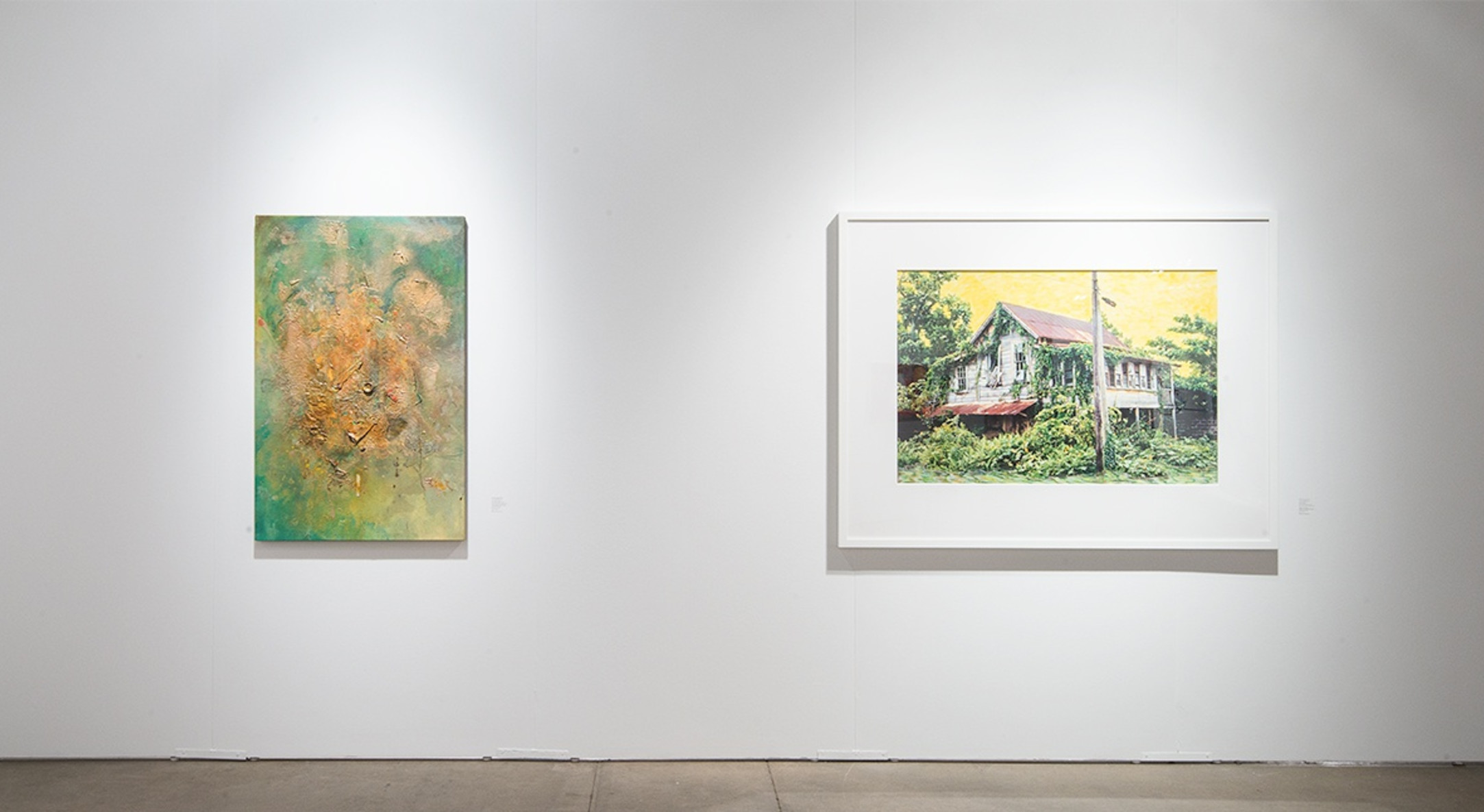 Installation view of Hales Gallery booth at Expo Chicago 2015