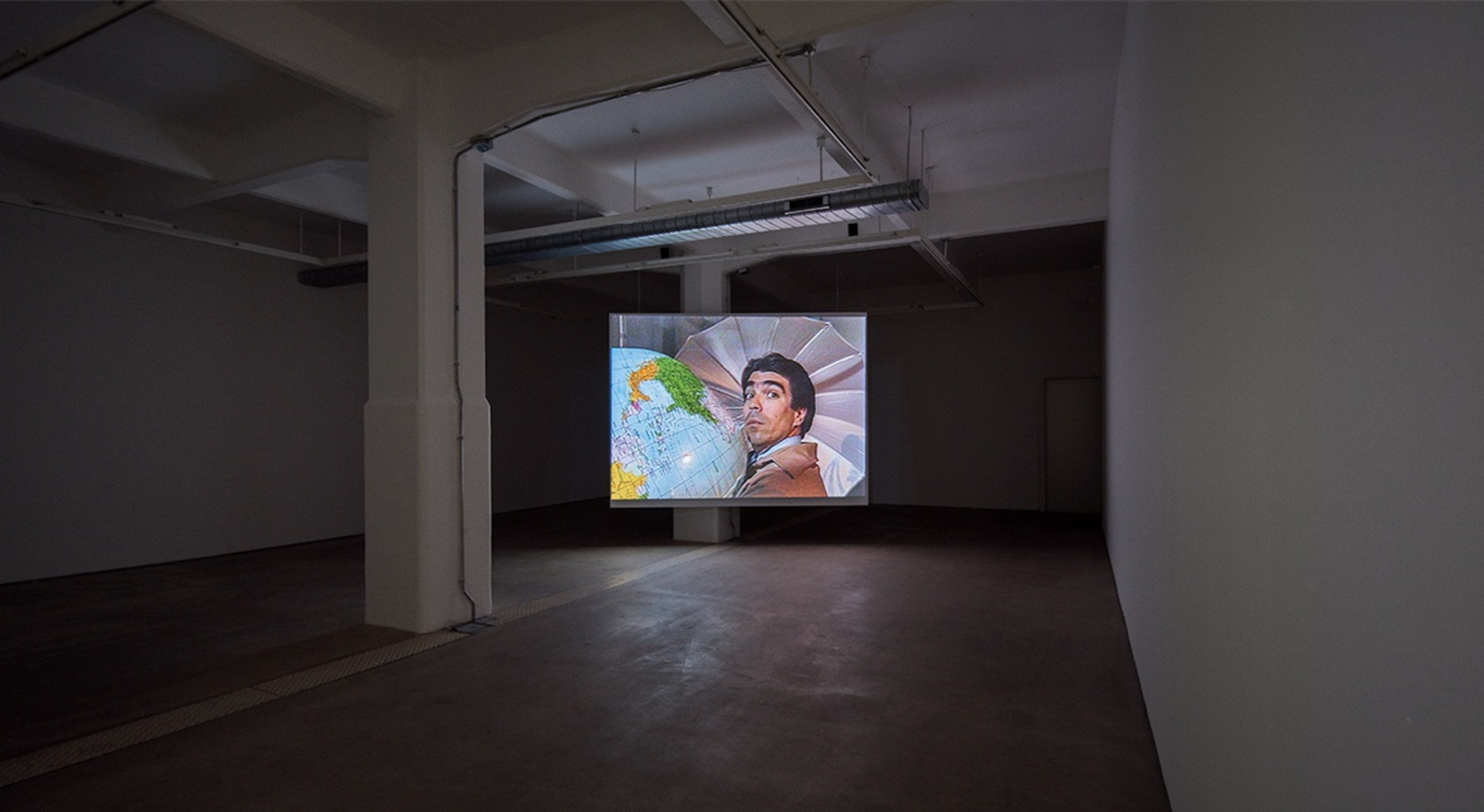 Installation view of Positions: Film Series at Hales Gallery London, 2015