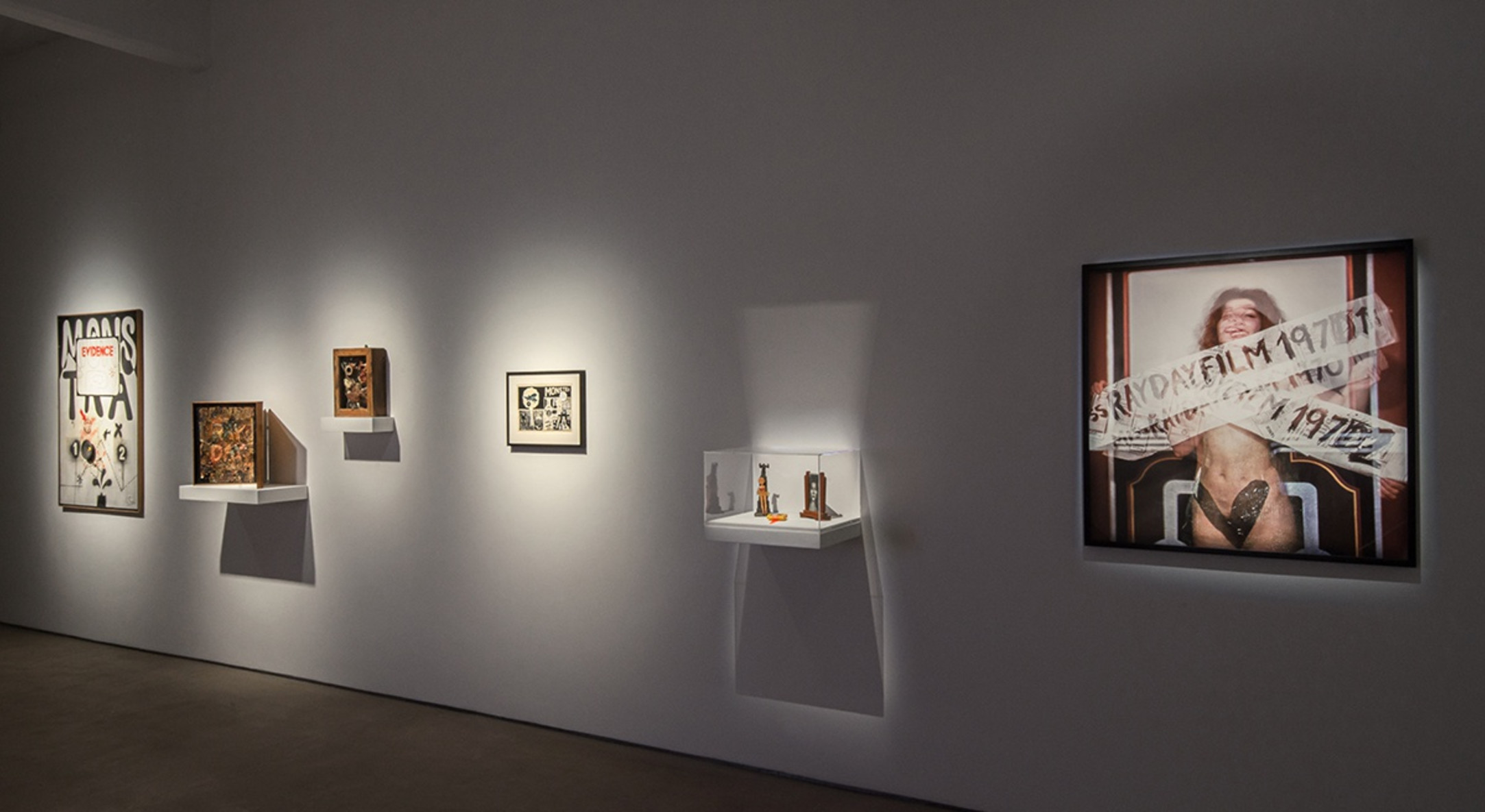 Installation view of Jeff Keen, Rayday Film at Hales London