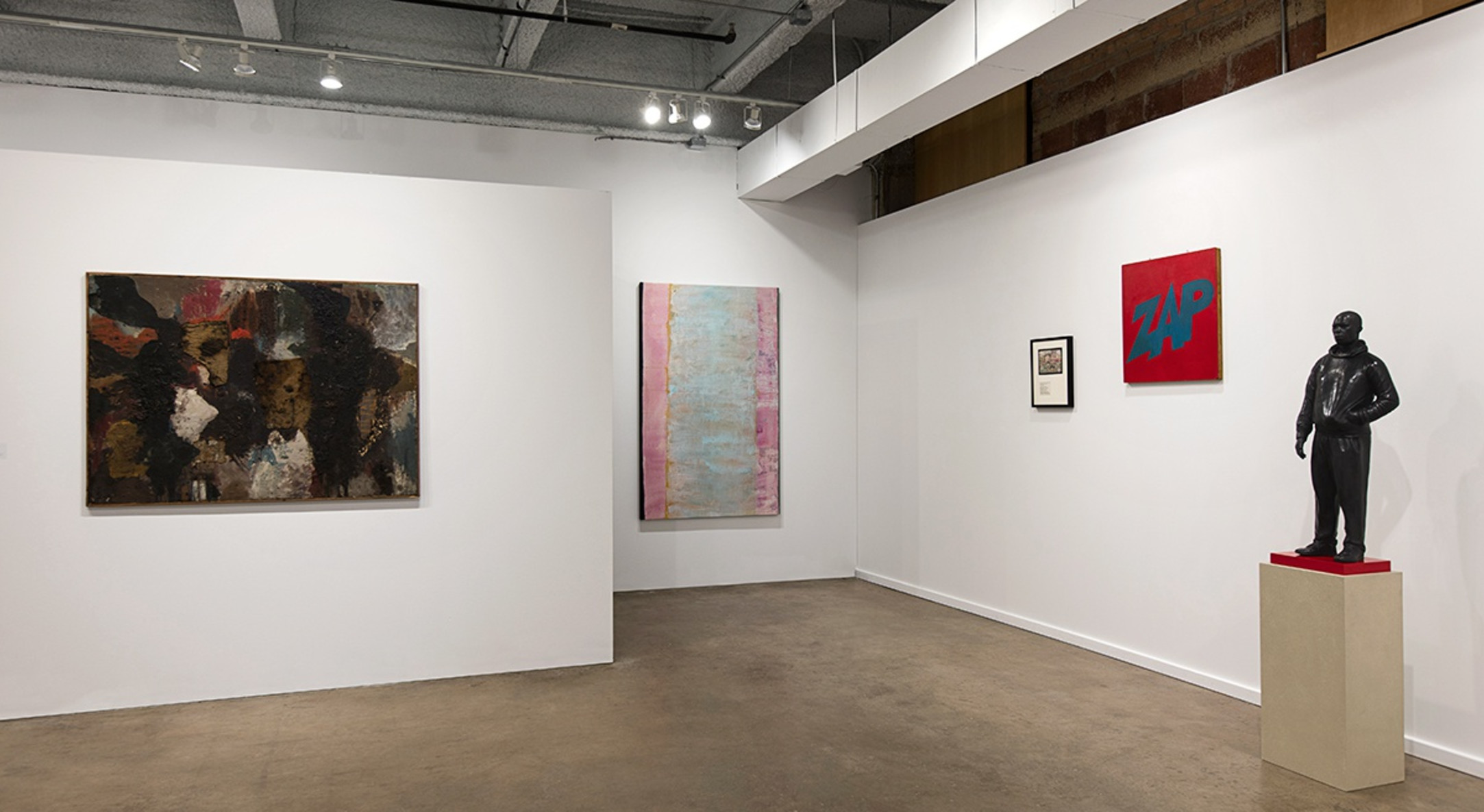 Installation view of Hales Gallery booth at Dallas Art Fair 2016