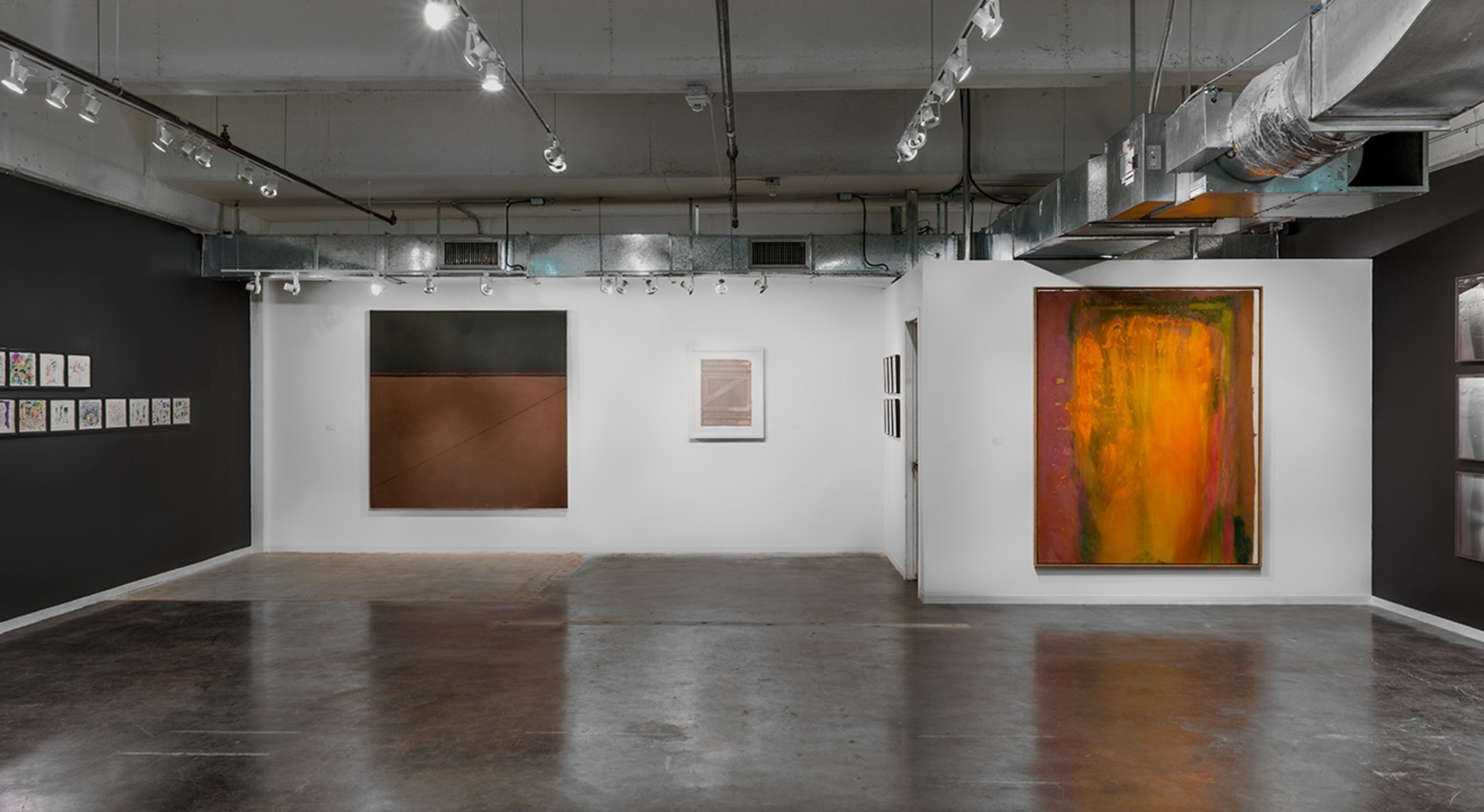 Installation view of Hales Gallery Booth at Dallas Art Fair 2017