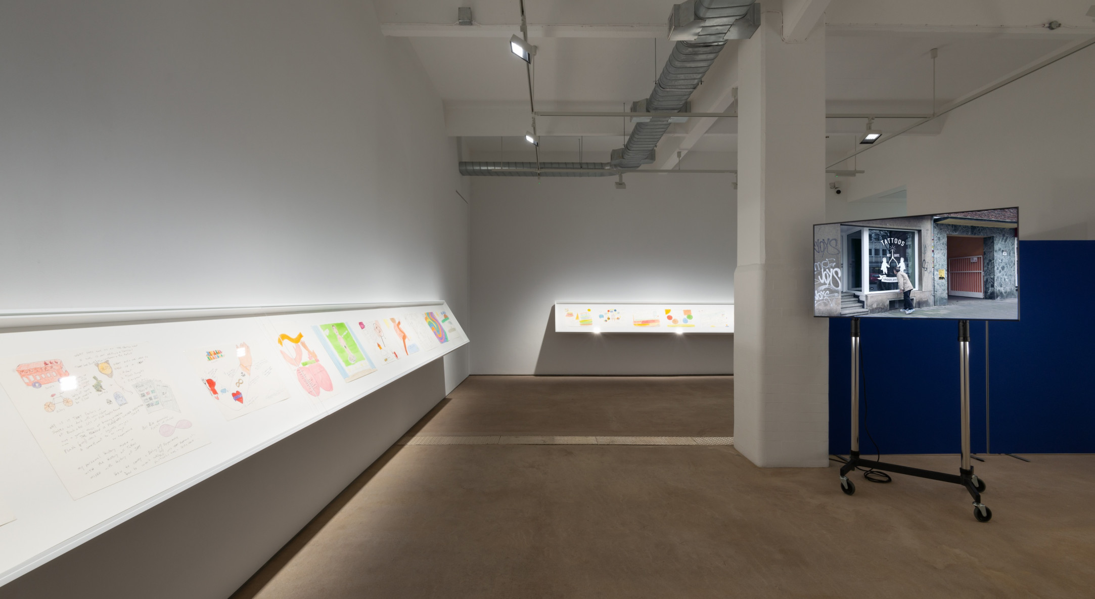 Michael Smith, Yet Another Show Of Drawings And Videos Reflecting On Youth Ageing And A Future Of Retirement By Michael Smith, Hales London