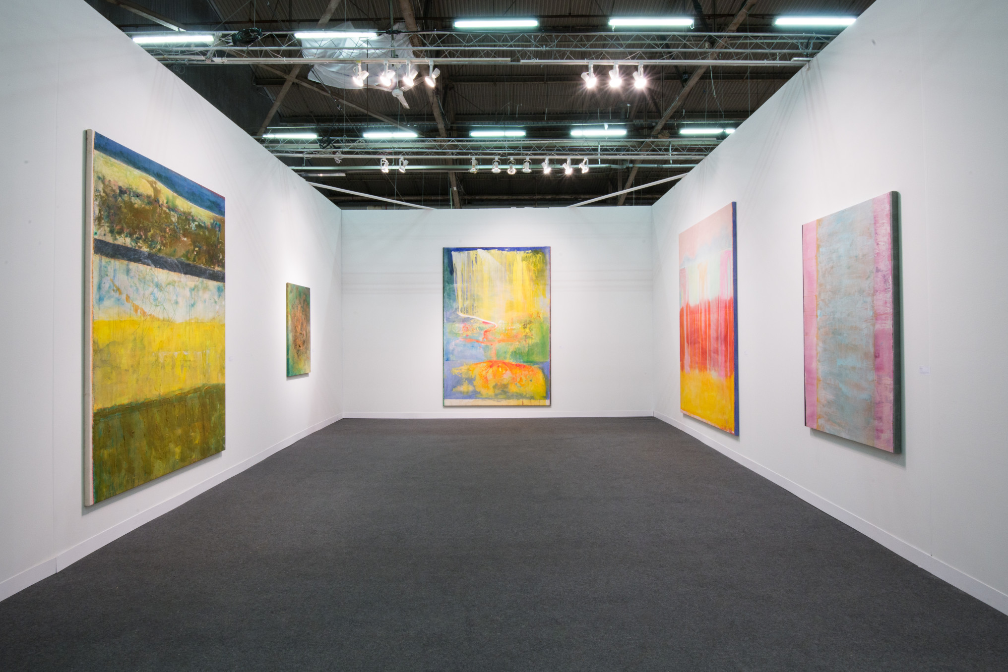 Frank Bowling, Installation view, Hales Gallery at The Armory Show 2016 | Pier 94 Booth 743, New York, 3 - 6 March 2016