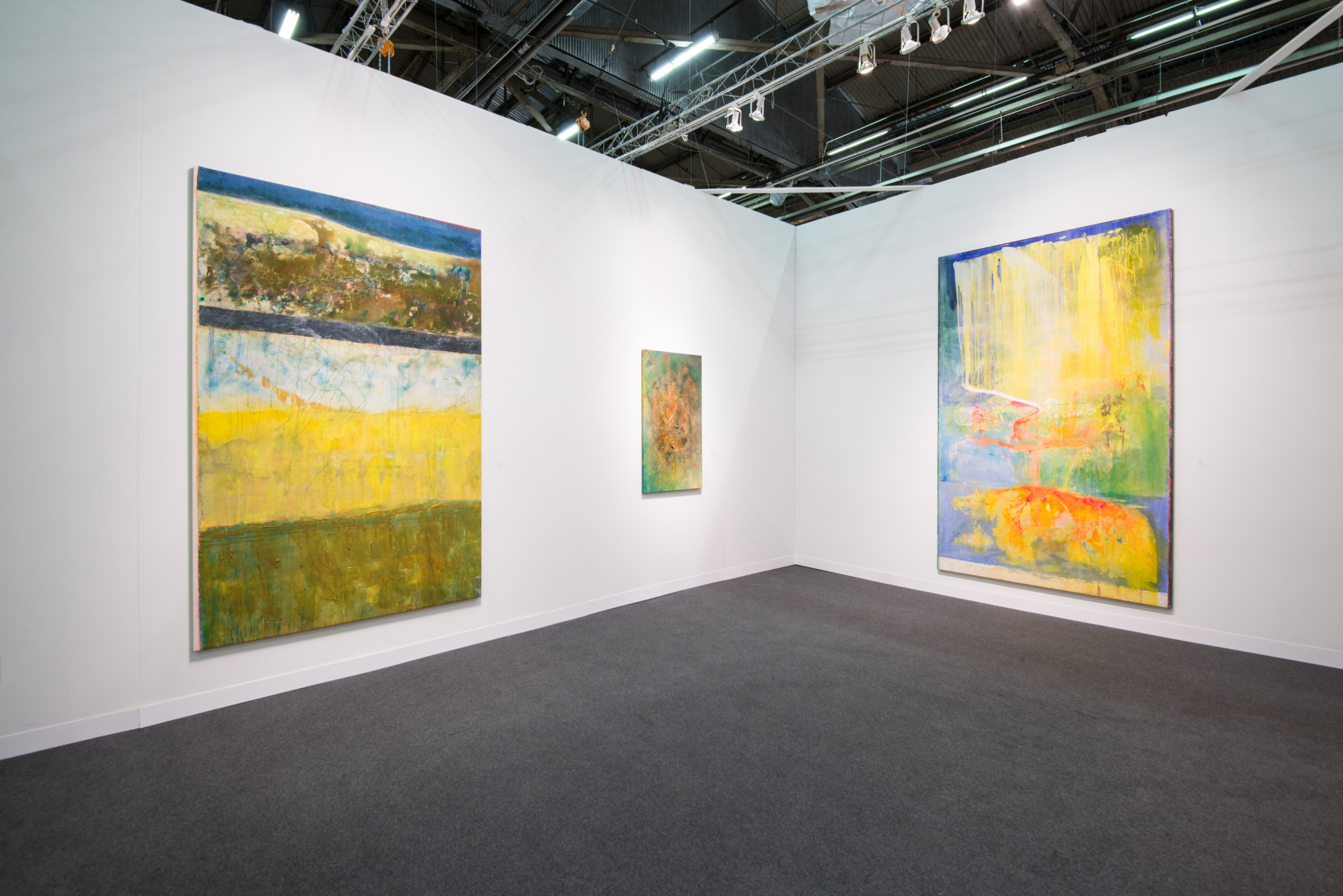 Frank Bowling, Installation view, Hales Gallery at The Armory Show 2016   Pier 94 Booth 743, New York, 3 - 6 March 2016