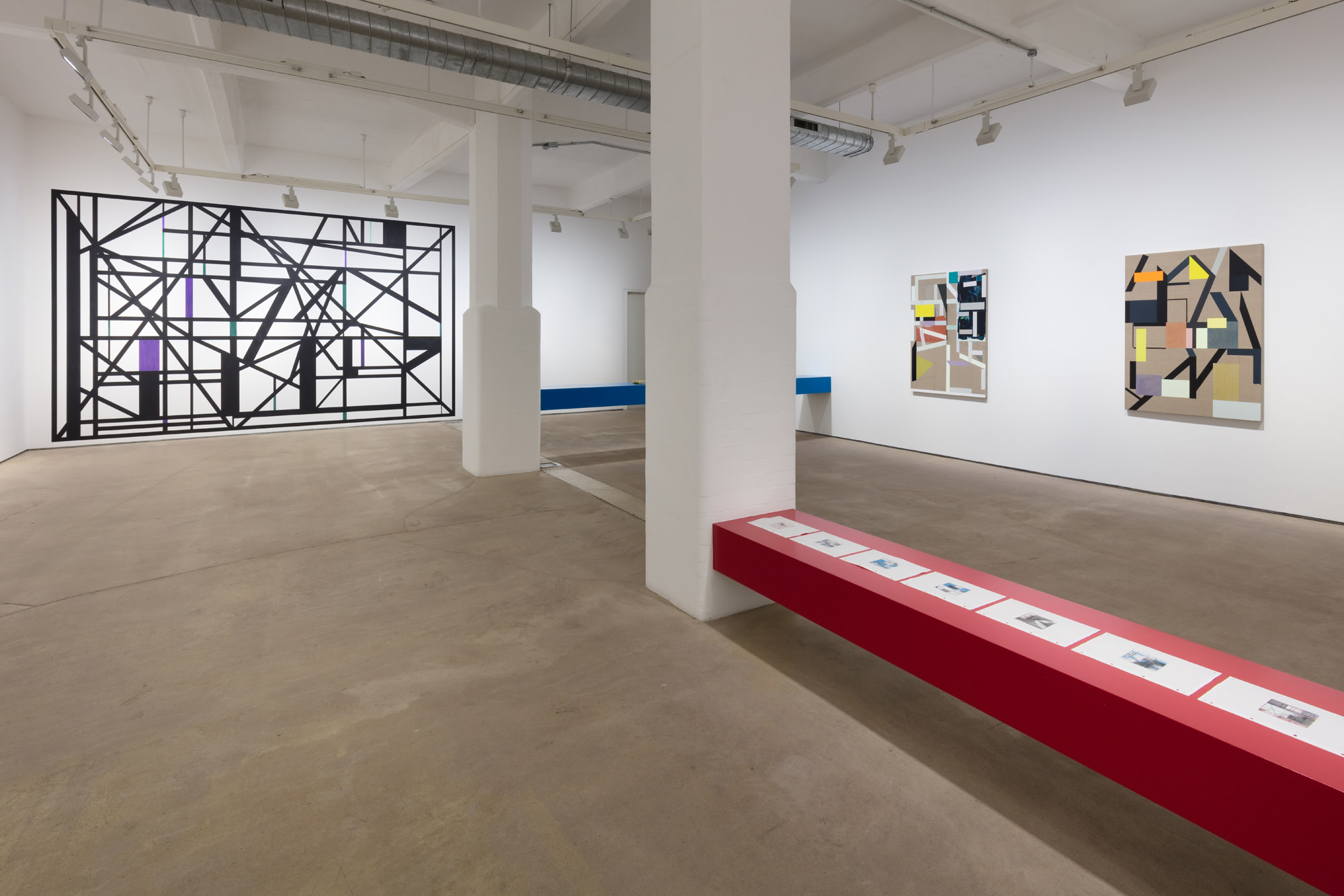 Andrew Bick, Installation view of Concrete-Disco-Systems, Hales London, 2019