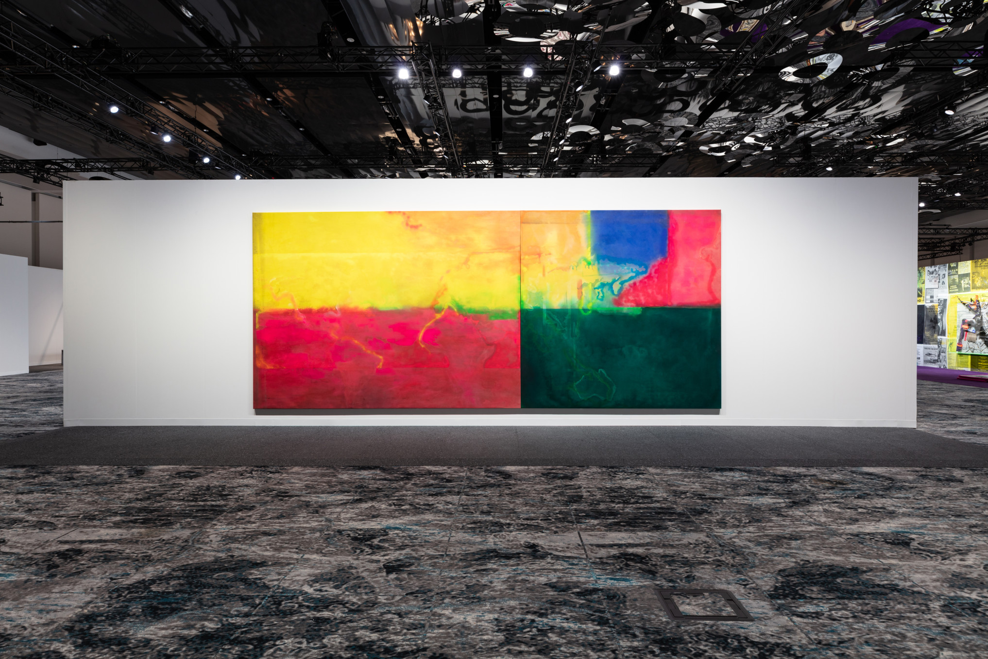 Frank Bowling, Installation view, Hales Gallery at Art Basel Miami Beach | Meridians, 4 - 8 December 2019
