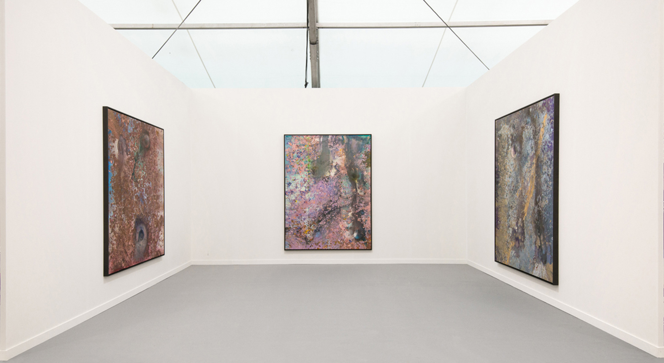Frank Bowling, Installation view, Hales Gallery at Frieze Art Fair New York   Booth D26, 5 - 8 May 2016