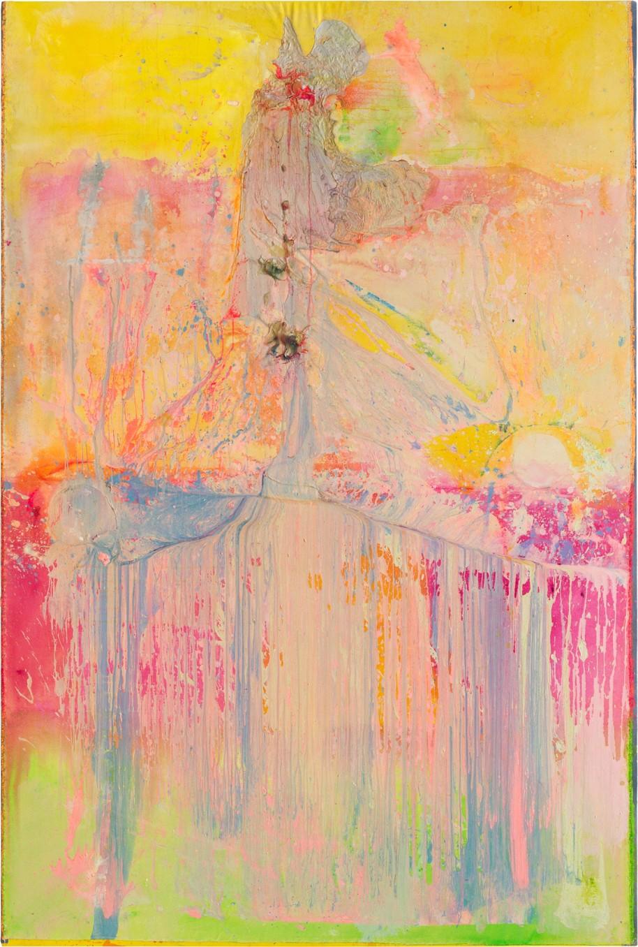 Frank Bowling, Shadowbalding, 2014, acrylic on canvas, 277.5 x 186.6 cm, 109 1/4 x 73 1/2 in