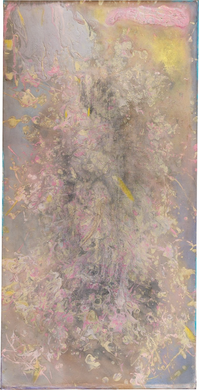 Frank Bowling Canjebend, 1980 Acrylic on canvas 163 x 82 cm 64 1/8 x 32 1/4 in