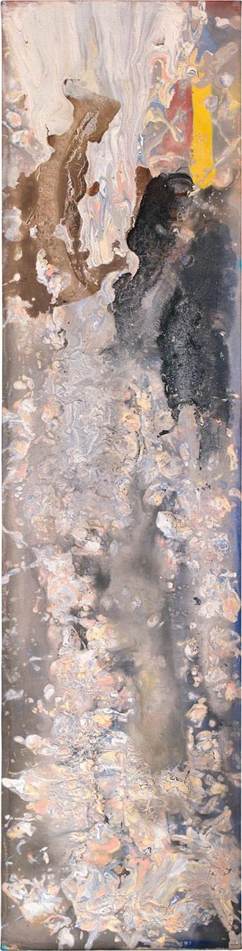 Frank Bowling Kadambi'schoice, 1980 acrylic on canvas 183 x 46 cm 72 1/8 x 18 1/8 in