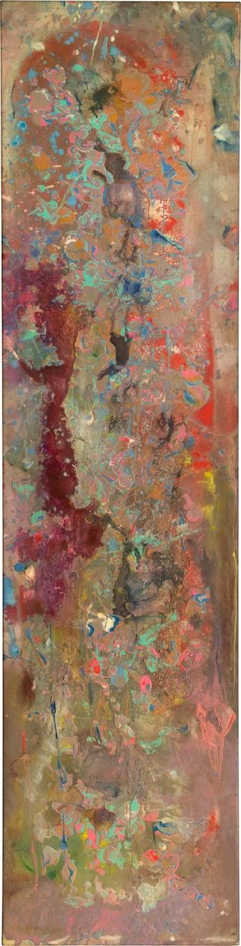 Frank Bowling Rupununired, 1980 Acrylic on canvas 180 x 44.6 cm 70 7/8 x 17 1/2 in