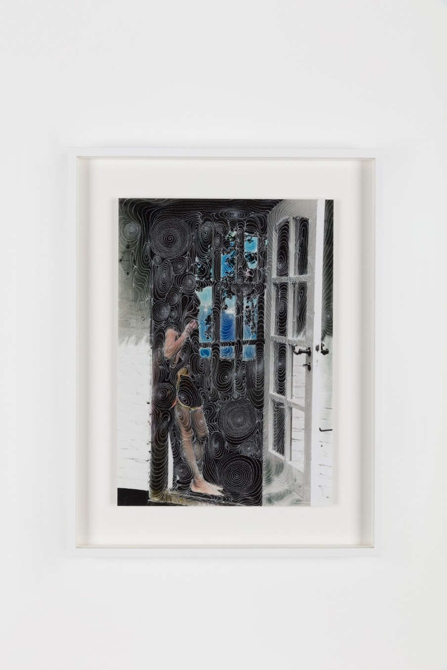 Sebastiaan Bremer, Inside Silver Step, 2018, Archival inkjet pigment print on resin coated paper with hand additions in pigment pen and photo retouch dye, 34.3 x 24.1 cm, 13 1/2 x 9 1/2 in, Framed: 45.5 x 35.1 x 3.7 cm, 17 7/8 x 13 7/8 x 1 1/2 in