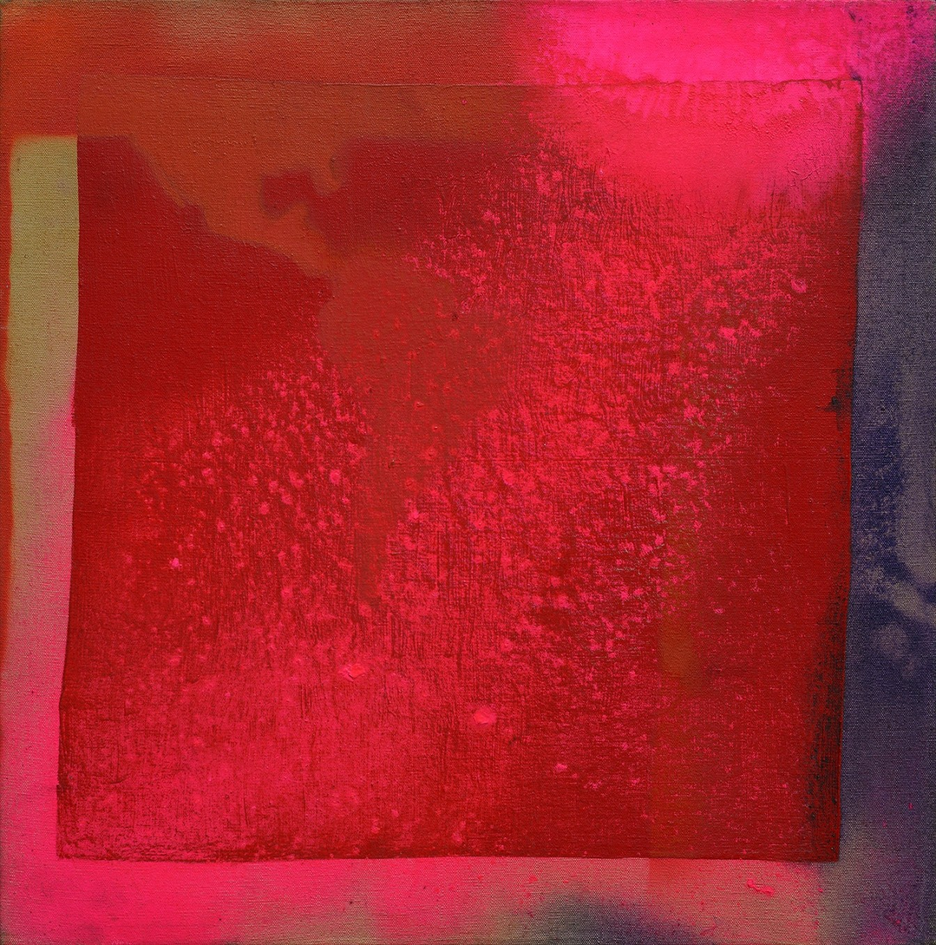 Frank Bowling, Untitled (After Hafif), 1969, Acrylic on canvas, 55.5 x 56 cm, 21 7/8 x 22 1/8 in
