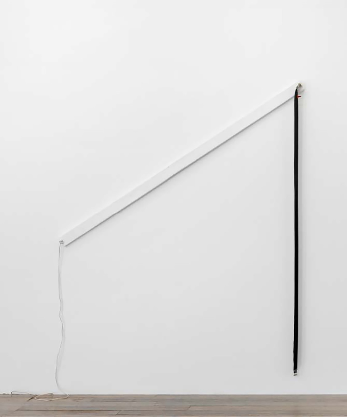 IAIN BAXTER&, Blown Out Flavin, 1965, Inflated vinyl, lighting hardware, and painted wood, 252.7 x 180.3 x 12.7 cm, 99 1/2 x 71 x 5 in