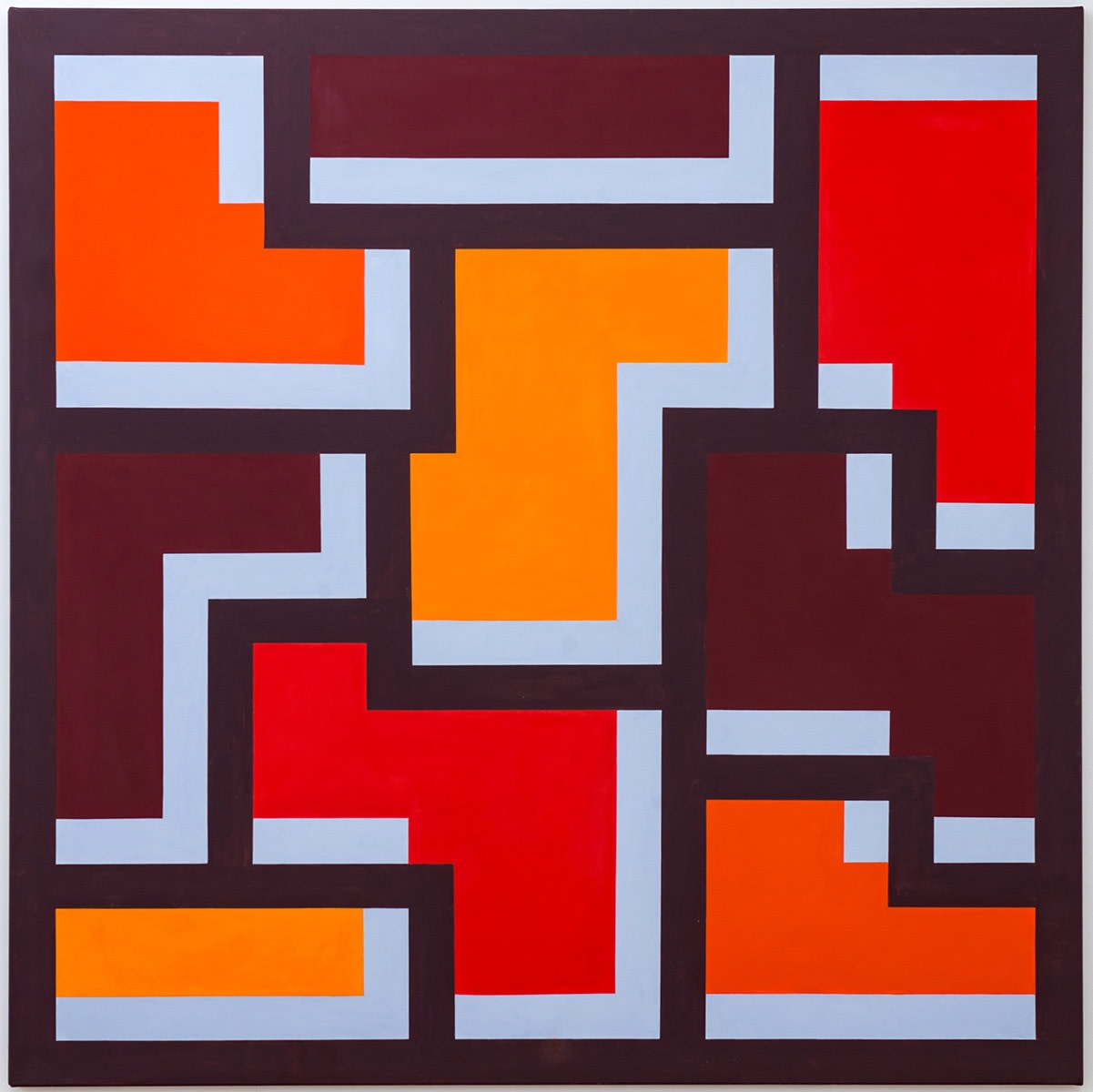 Mary Webb, UTAH VI (Third Version), 2017, Oil on canvas, 180 x 180 cm, 70 7/8 x 70 7/8 in