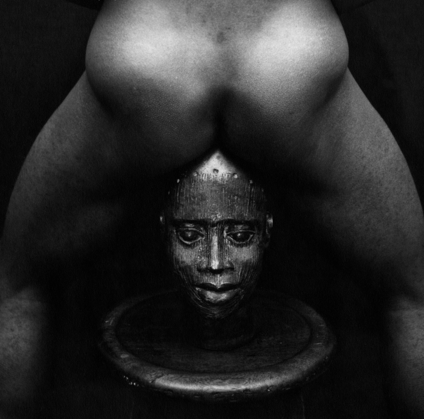 Rotimi Fani-Kayode, Bronze Head, 1987, Gelatin silver print, 30.5 x 40.6 cm, 12 x 16 in, Framed: 44.8 x 42.2 cm, 17 5/8 x 16 5/8 in
