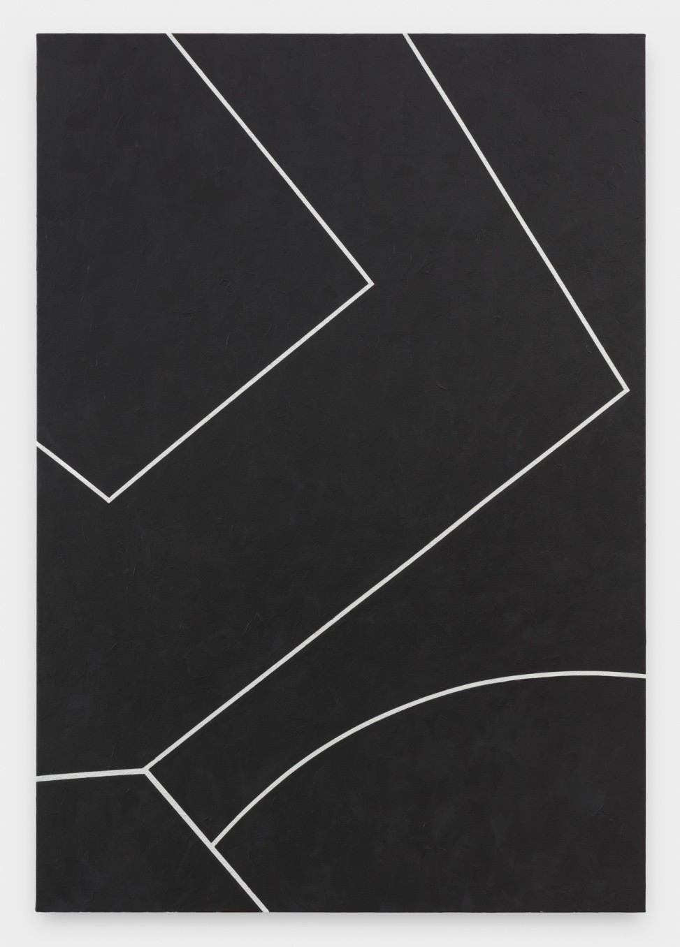 Virginia Jaramillo, Site: No. 5 19.6923˚ N, 98.8435˚ W, 2018, Acrylic on canvas, 198.1 x 137.2 cm, 78 x 54 in