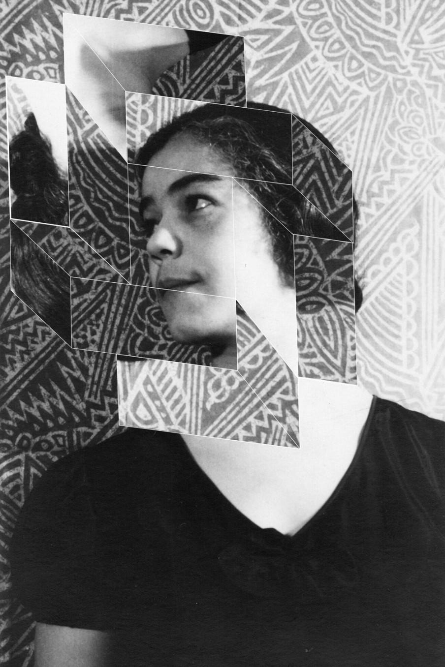 Andrea Geyer, Constellations (Dorothy Peterson after VanVechten), 2017, Hand-cut archival print on rag paper, 86.4 x 58.4 cm, 34 x 23 in (unframed)