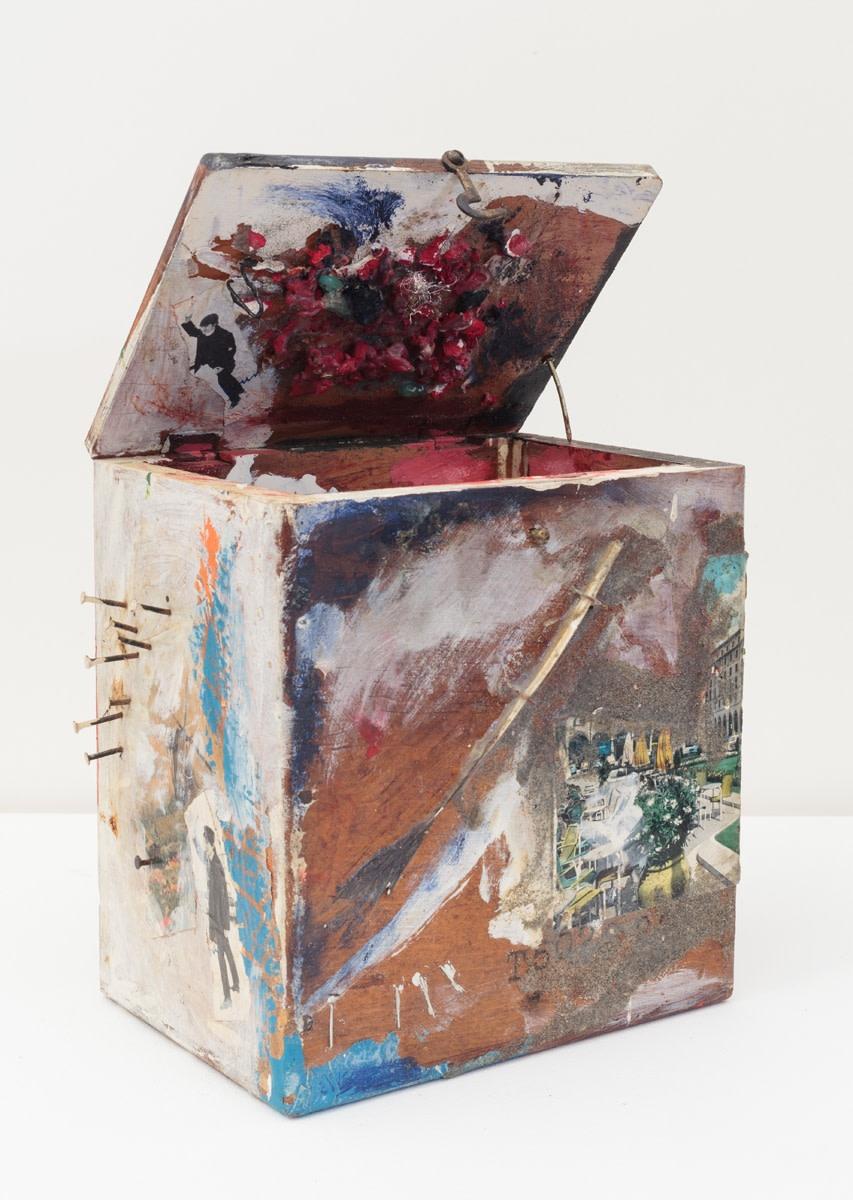 Carolee Schneemann, Beatles Box, c. 1962, Mixed media construction - wood, fur, glass, paint, 11.4 x 16.5 x 17.8 cm, 4 1/2 x 6 1/2 x 7 in