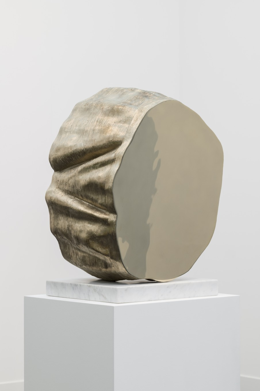 Thomas J Price, Power Object Section 1 No 1, 2018, Aluminium Bronze Composite With Marble Base Bronze, 62 X 44 X 32 cm