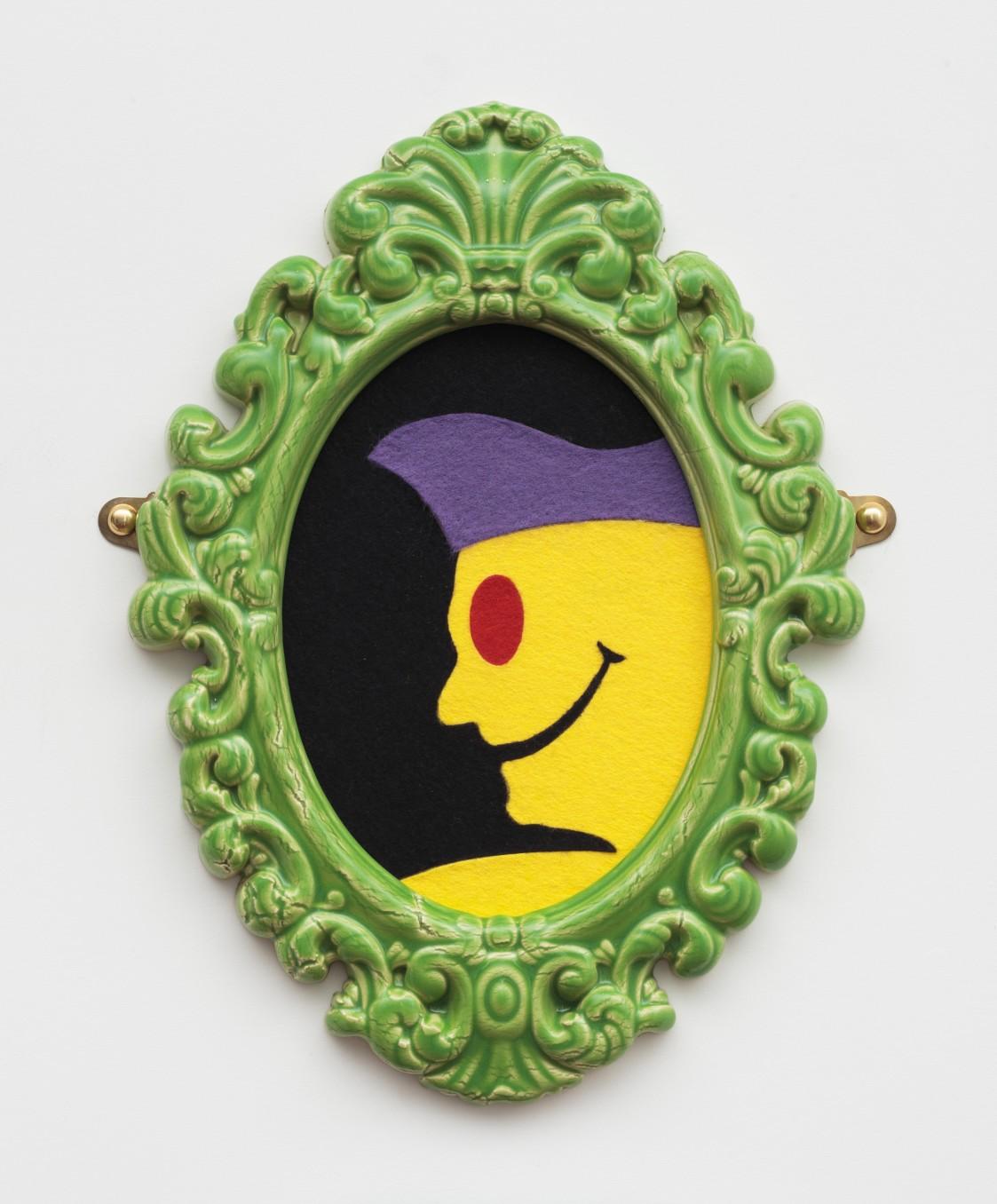 Richard Slee, Portrait, 2010, Glazed ceramic with felt, 39 x 28 cm, 15 3/8 x 11 1/8 in