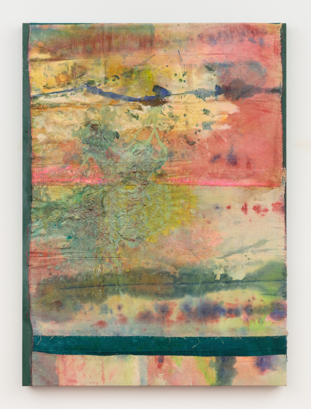 Frank Bowling, Not Rosebush Too, 2013, Acrylic on canvas, 130.4 x 95.1 cm, 51 3/8 x 37 1/2 in, Framed: 136.7 x 99.1 cm, 53 7/8 x 39 in