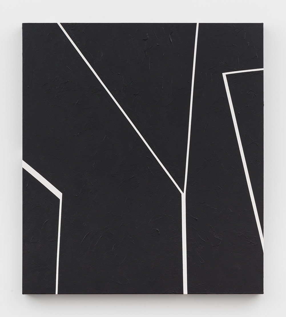 Virginia Jaramillo, Site: No. 16 31.7781° N, 35.2360° E, 2018, Acrylic on canvas, 91.4 x 81.3 cm, 36 x 32 in