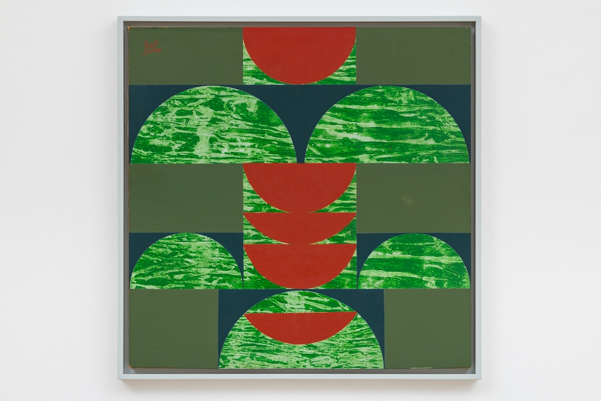 Anwar Jalal Shemza, Square Composition 14, 1963, Oil on hardboard, 61 x 61 cm, 24 1/8 x 24 1/8 in, Framed: 65 x 65 cm, 25 5/8 x 25 5/8 in