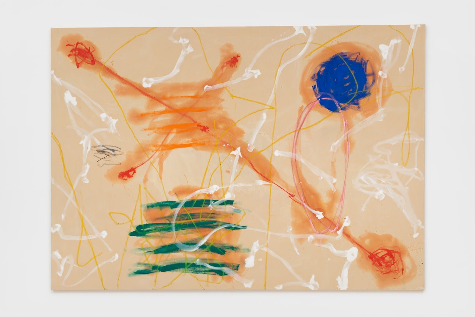 Basil Beattie Cause & Effect, 1980 Oil and oil stick on canvas 213 x 302 cm 83 7/8 x 118...