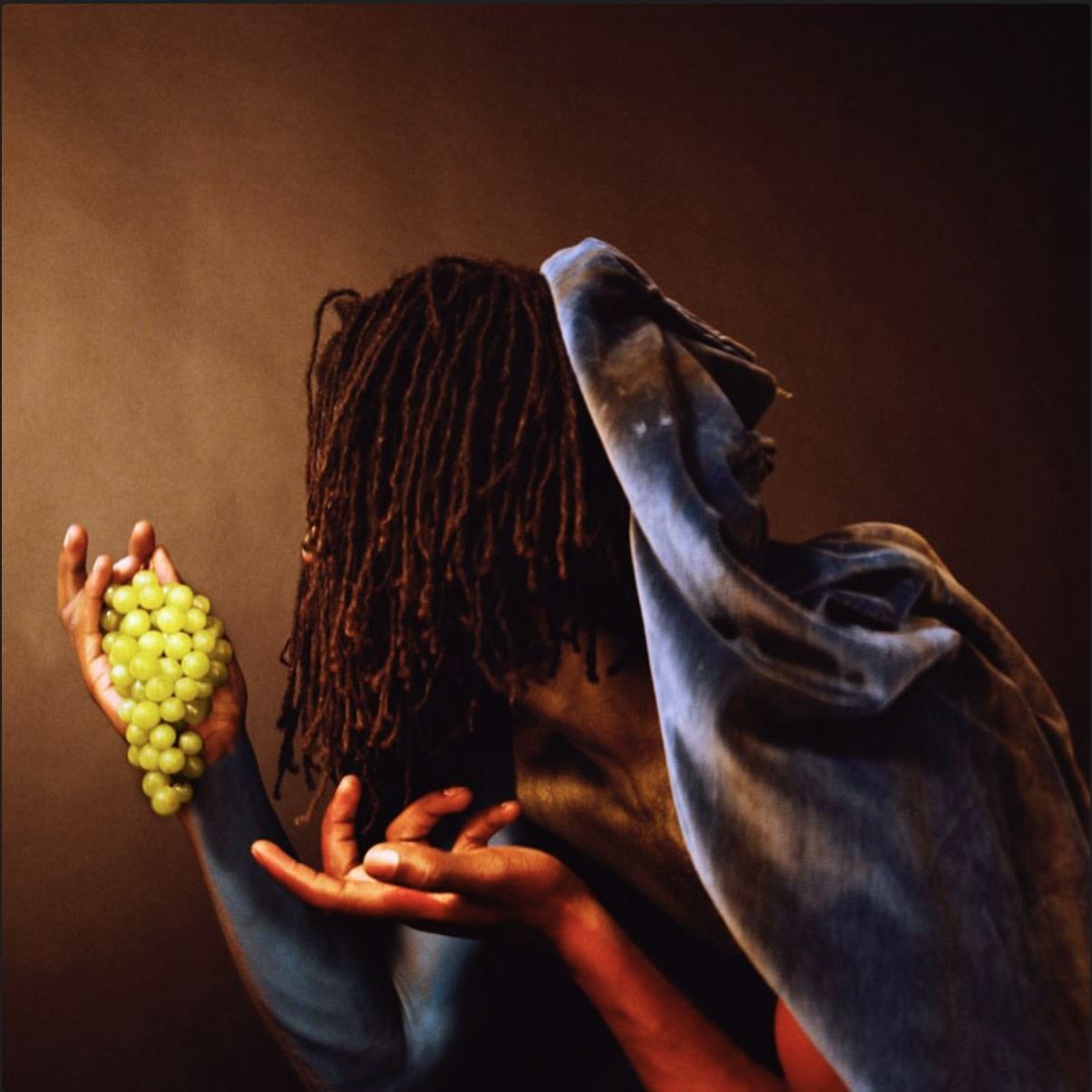 Rotimi Fani-Kayode, Grapes, 1989, Archival chromogenic print, 38.4 x 38.4 cm, 15 1/8 x 15 1/8 in