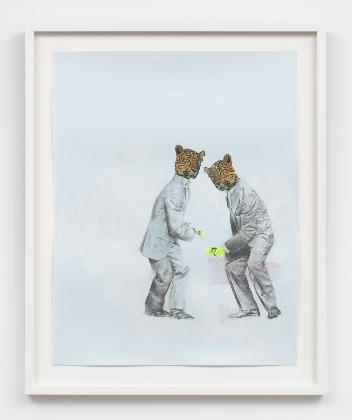 pas de deux - Leopard and Leopard [pina], 2020 Graphite, ink, photo transfer 89.5 x 72.4 cm 35 1/4 x...