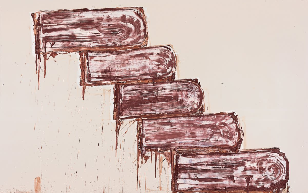 Basil Beattie, Five Steps to Nowhere, 2002, Oil and wax on canvas, 229 x 366 cm, 90 1/8 x 144 1/8 in