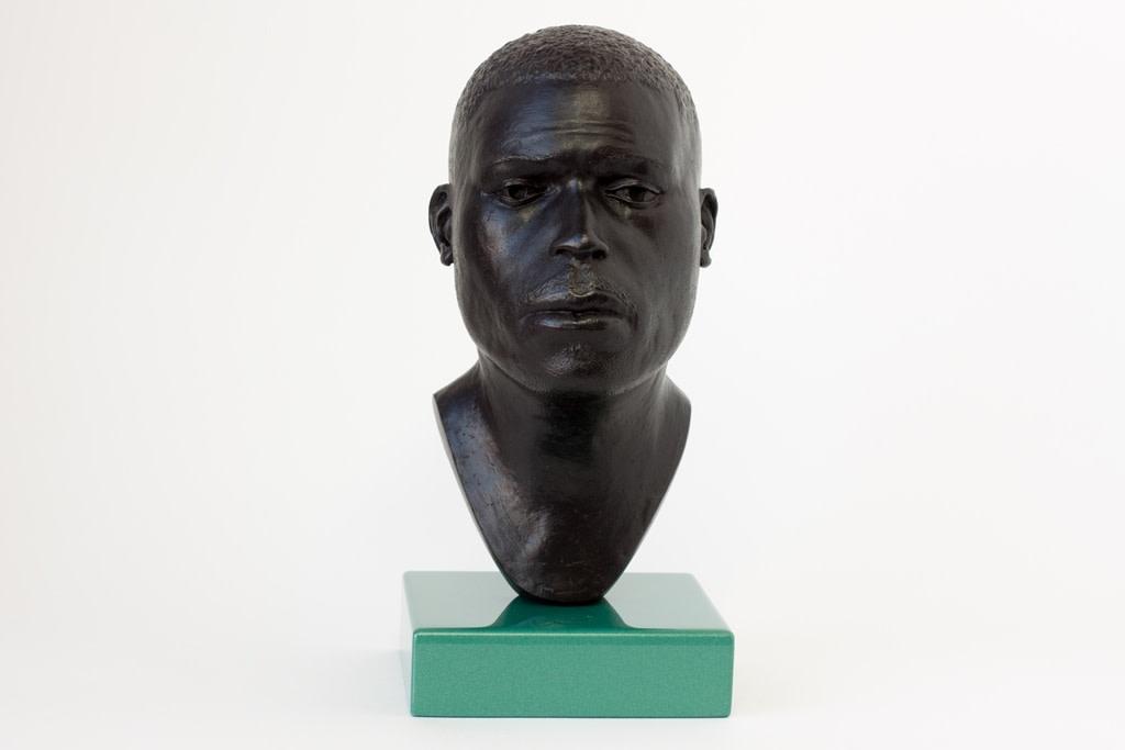 Thomas J Price, Head 16, 2014, Bronze, Perspex & Automotive Spray Paint, 21 x 11 x 13 cm, 8 1/4 x 4 3/8 x 5 1/8 in
