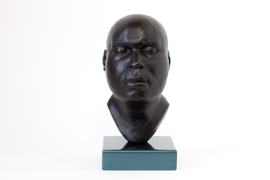 Thomas J Price, Head 18, 2014, Bronze, Perspex & Automotive Spray Paint, 23 x 11 x 13 cm, 9 1/8 x 4 3/8 x 5 1/8 in