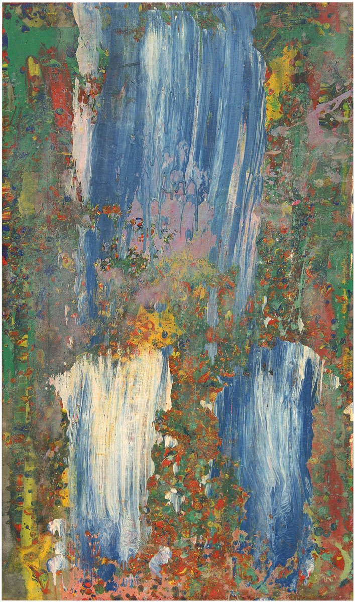 Frank Bowling, At Swim Two Manatee, 1978, Acrylic on canvas, 116.4 x 68.5 cm, 45 7/8 x 27 in