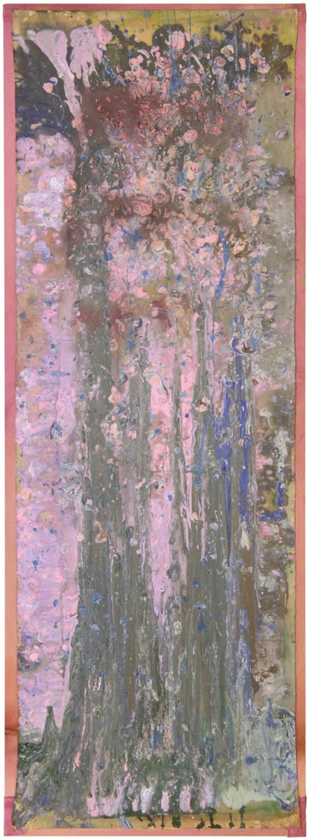 Frank Bowling, Bunch, 1979-2012, Acrylic on collaged canvas, 190.7 x 68.6 cm, 75 1/8 x 27 1/8 in