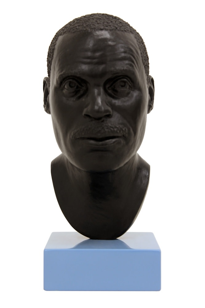 Thomas J Price, Head 13, 2012, Bronze, Perspex, and Automotive Spray Paint, 21.8 x 9 x 11 cm, 8 5/8 x 3 1/2 x 4 3/8 in