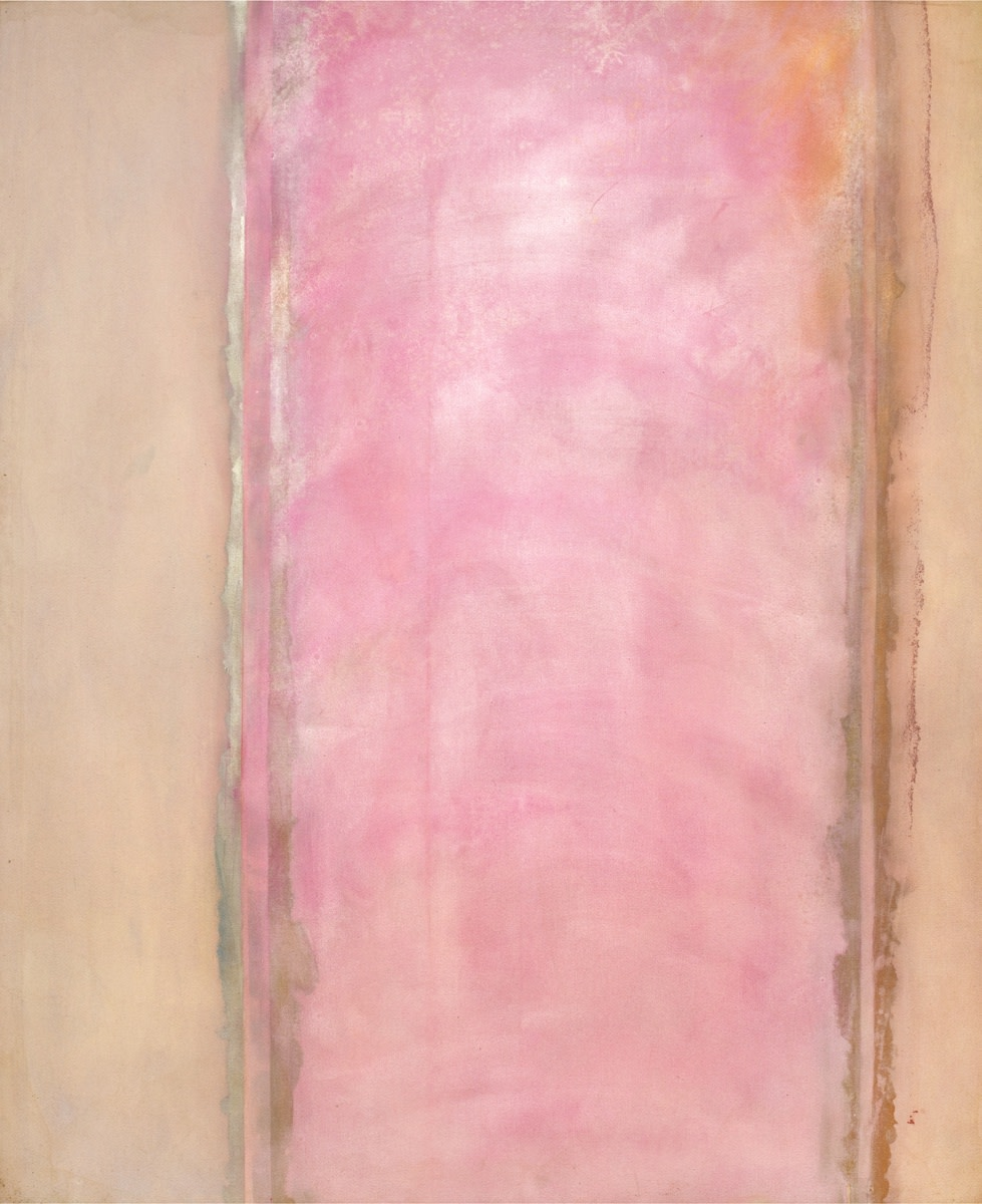 Detail of Frank Bowling, Breeze, 1972, acrylic on canvas, 226.5 x 185 cm, 89 1/8 x 72 7/8 in