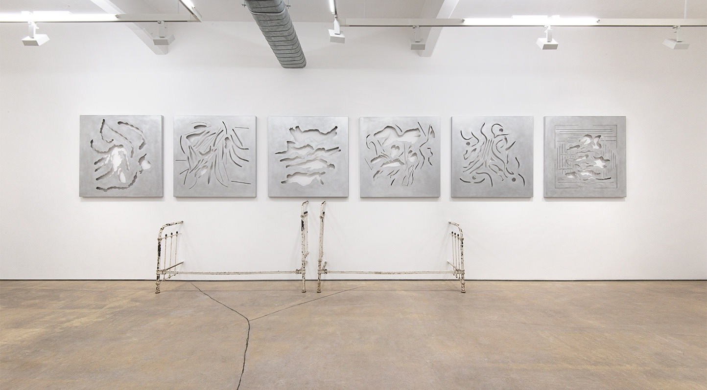 Installation view of Stuart Brisley, From the Georgiana Collection at Hales London