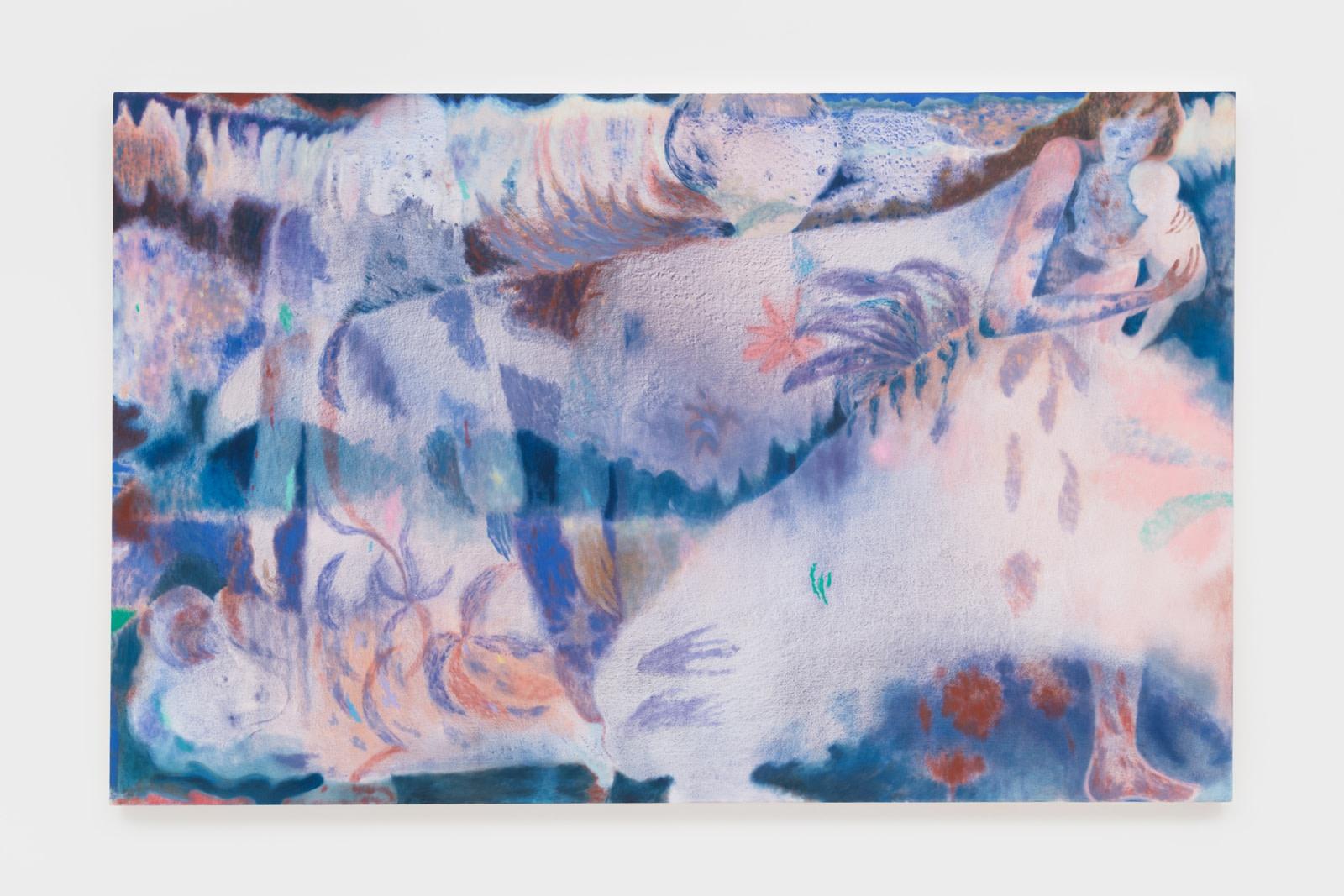 Maja Ruznic Odlazak, 2020 Acrylic and oil on canvas 193 x 304.8 cm 76 x 120 in Inquire