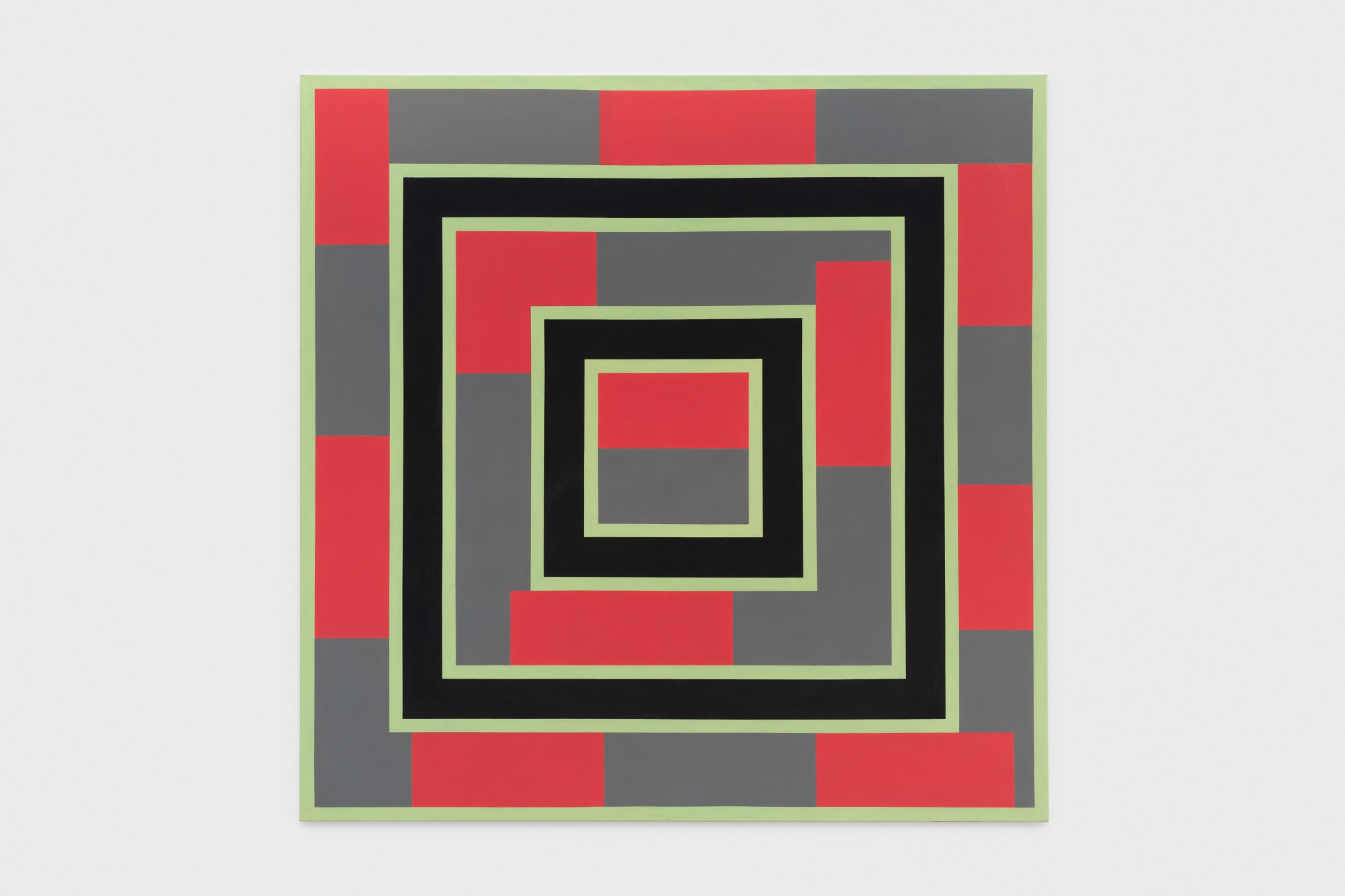 Mary Webb Red and green IV, 1973 Oil on canvas 190.5 x 190.5 cm 75 x 75 in