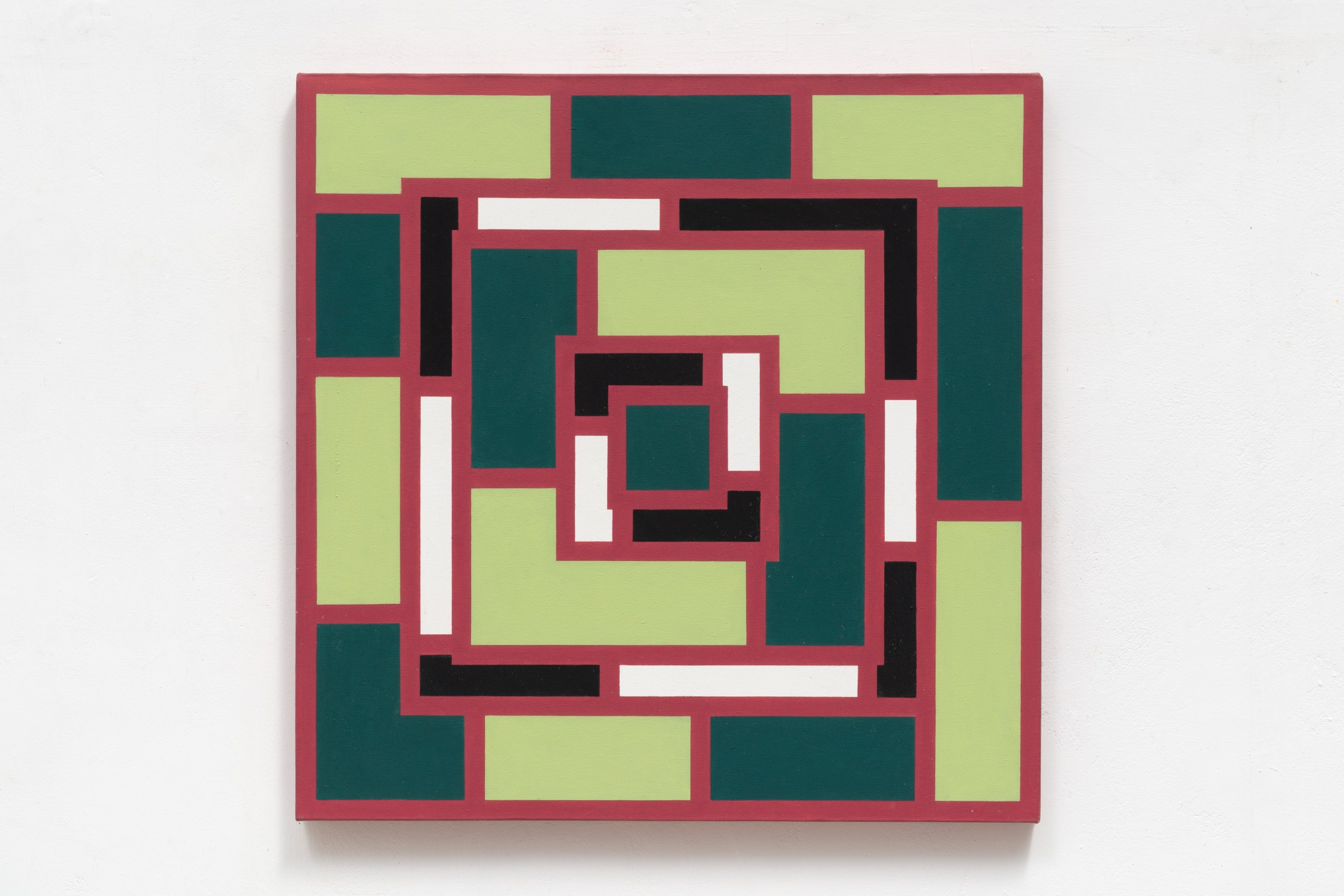 Mary Webb Red and green VI, 1974 Oil on canvas 74 x 74 cm 29 1/8 x 29 1/8 in