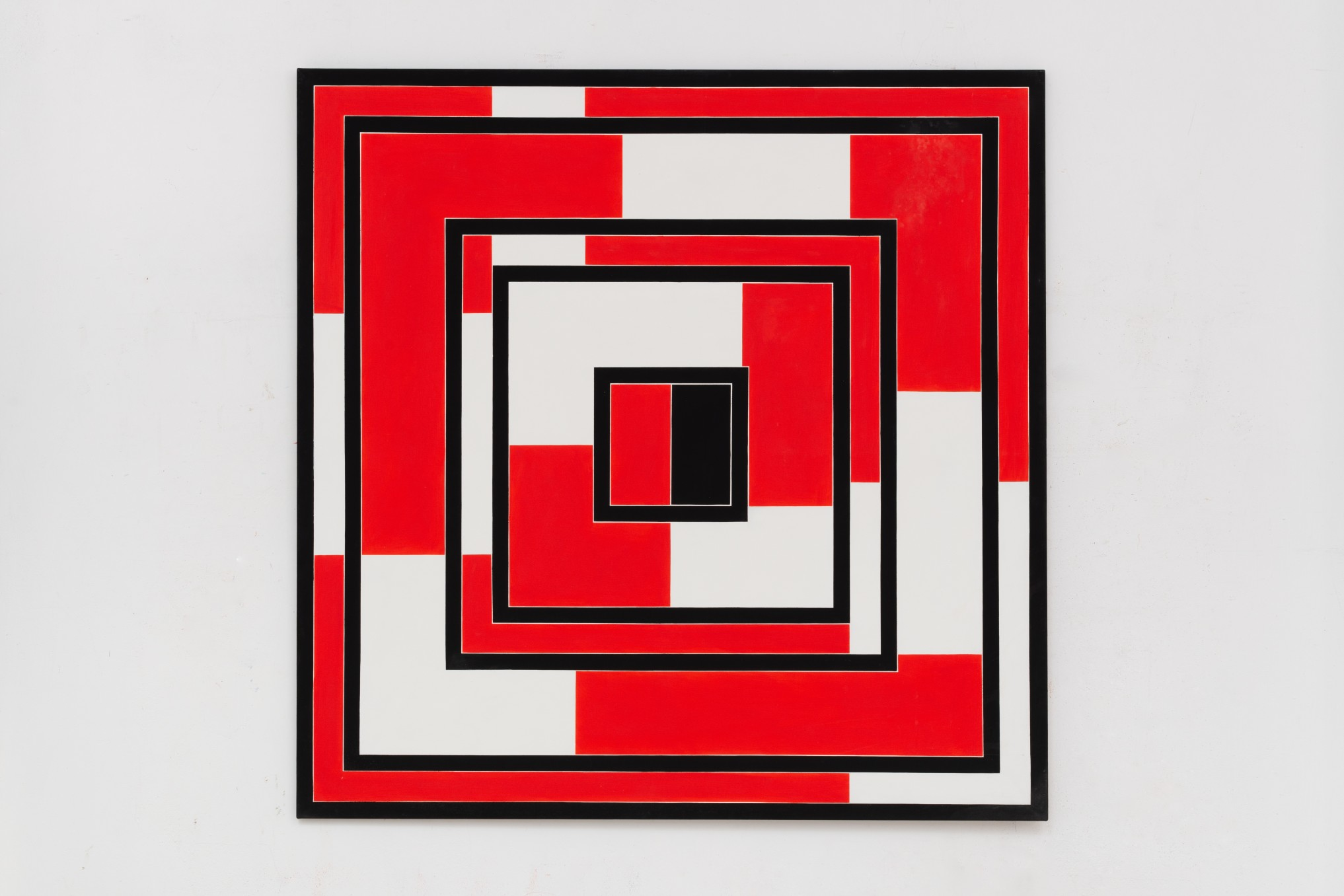 Mary Webb Red, black and white, 1971 Oil on canvas 152.4 x 152.4 cm 60 x 60 in