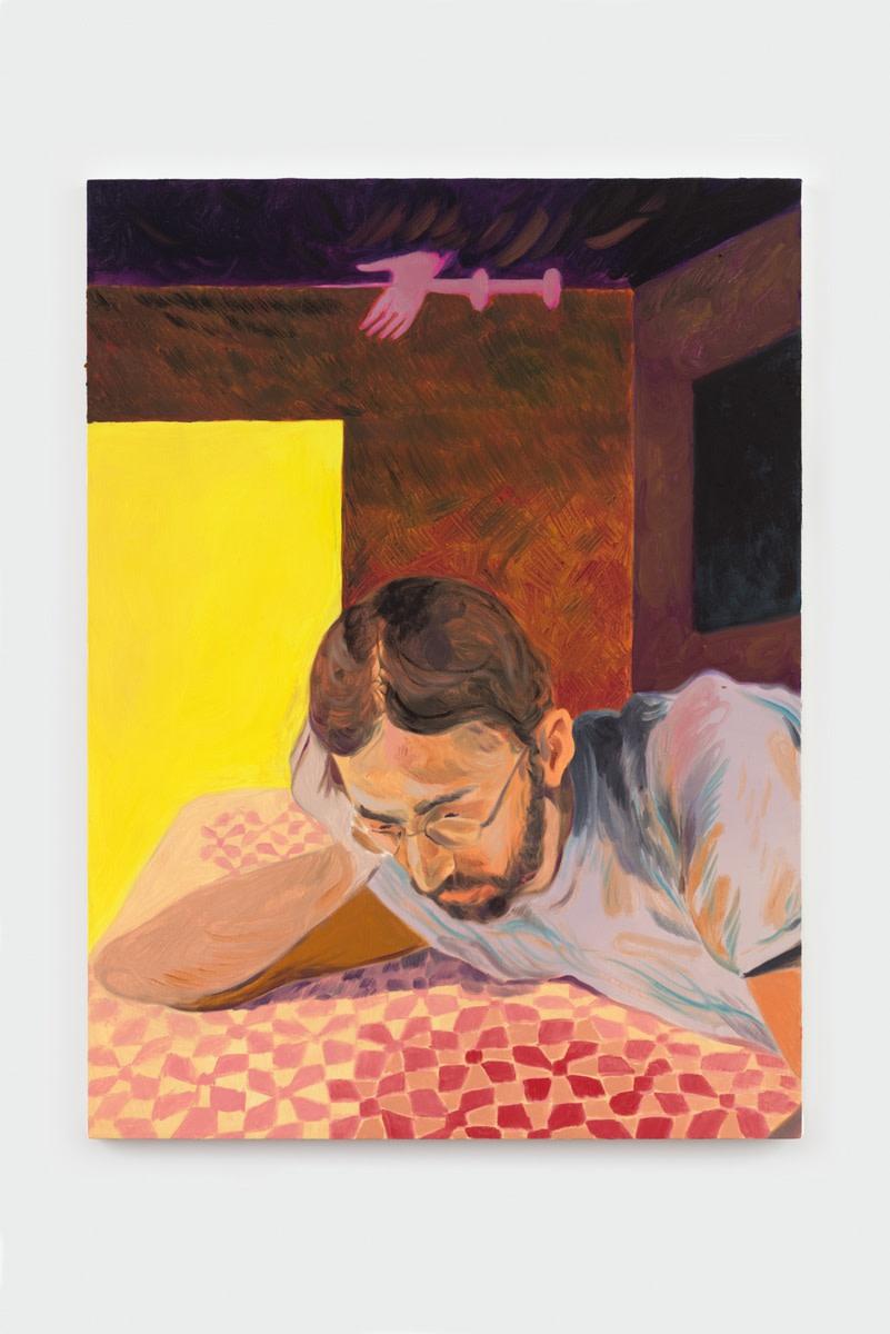 Anthony Cudahy, seeking a pattern, 2021 Oil on canvas 121.9 x 91.4 cm 48 x 36 in