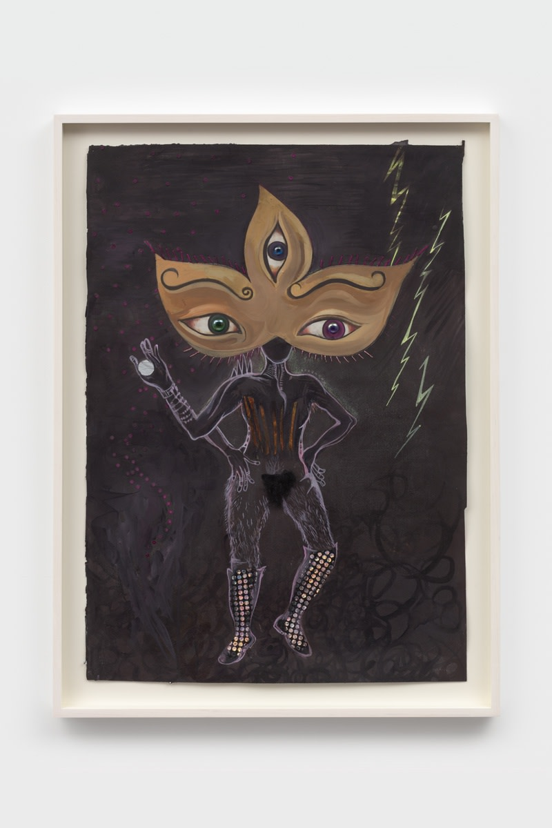 Chitra Ganesh Untitled, 2021 Paint and mixed media on paper 76.8 x 54.6 cm 30 1/4 x 21 1/2 in...