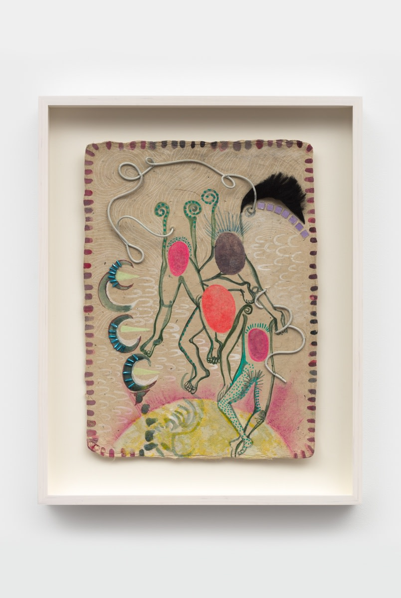Chitra Ganesh Untitled, 2021 Watercolor and mixed media on paper 30.5 x 22.9 cm 12 x 9 in Framed: 39.4...