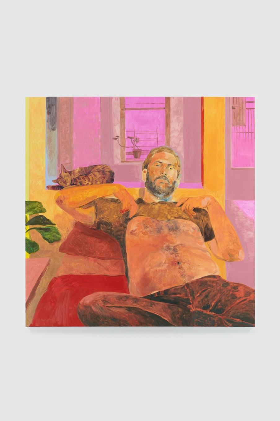 Anthony Cudahy Josh in warm light, 2021 Oil on canvas 152.4 x 152.4 cm 60 x 60 in