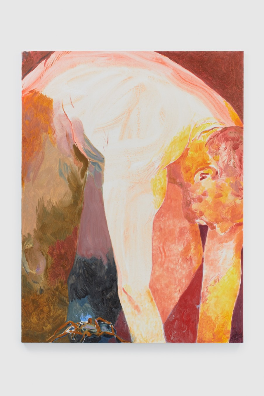 Anthony Cudahy crouched, 2021 Acrylic and oil on canvas 121.9 x 91.4 cm 48 x 36 in